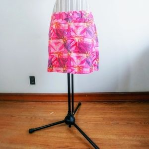 Lilly Pulitzer Pink Floral Corduroy Mini Skirt 8